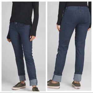 Prana Kara Straight Jeans NEW Indigo Blue Size 14